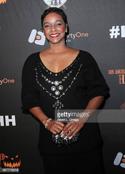 Actress Lark Voorhies arrives for the Los Angeles Haunted Hayride held at Griffith Park on October 9 2014 in Los Angeles California