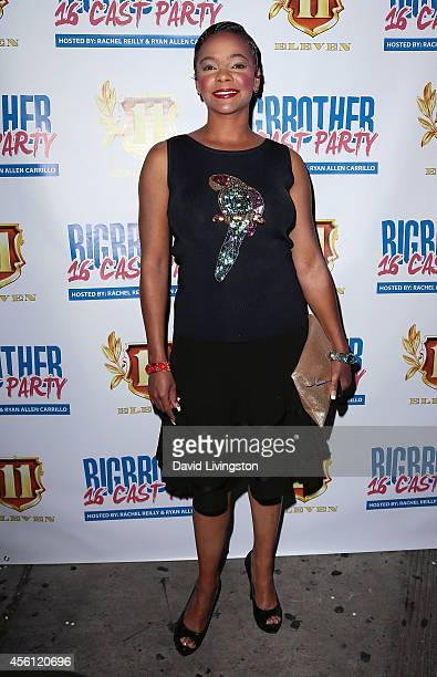 Actress Lark Voorhies attends the Big Brother 16 Red Carpet Finale Party at Eleven NightClub on September 25 2014 in West Hollywood California