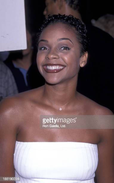 Actress Lark Voorhies attends the premiere of Love Stinks on August 11 1999 at Mann Festival Theater in Westwood California