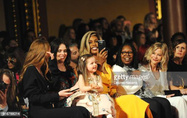 Actress Larsen Thompson Coco Rocha with her daughter Ioni James Conran Laverne Cox Whoopi Goldberg Meg Ryan and Molly Shannon attend the Christian...