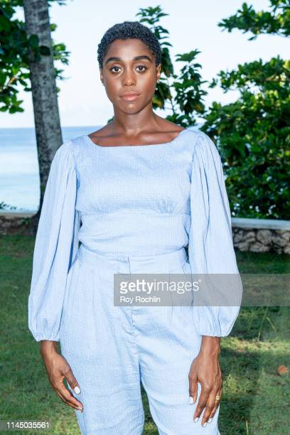 Actress Lashana Lynch attends the Bond 25 Film Launch at Ian Fleming's Home GoldenEye on April 25 2019 in Montego Bay Jamaica
