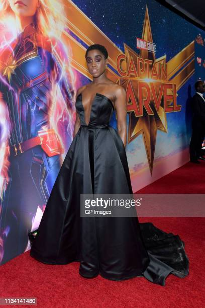 Actress Lashana Lynch attends the 'Captain Marvel' Canadian Premiere held at Scotiabank Theatre on March 06 2019 in Toronto Canada