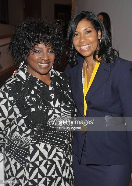 Actress Latanya Richardson Jackson and Cookine Johnson arrive at the 8th Annual Heroes In The Struggle Gala at the Walt Disney Concert Hall on...
