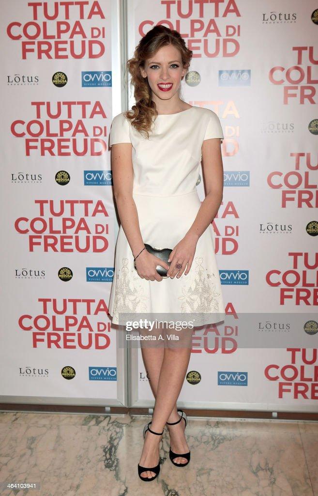 Actress Laura Adriani attends 'Tutta colpa di Freud' premiere at Teatro dell'Opera on January 20, 2014 in Rome, Italy.