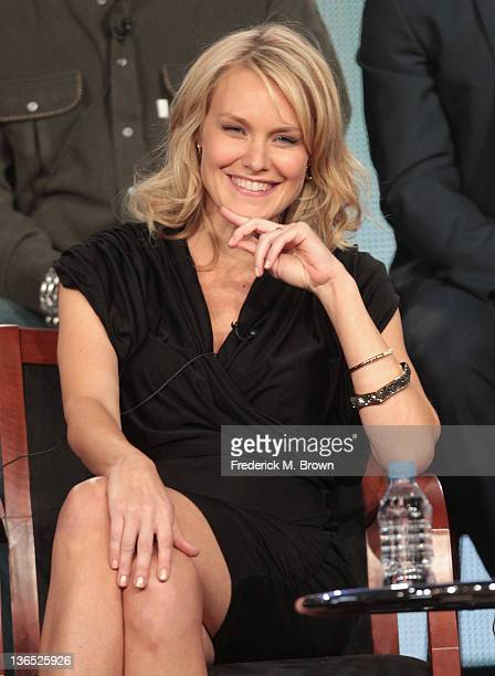 Actress Laura Allen speaks onstage during the Awake panel during the NBCUniversal portion of the 2012 Winter TCA Tour at The Langham Huntington Hotel...