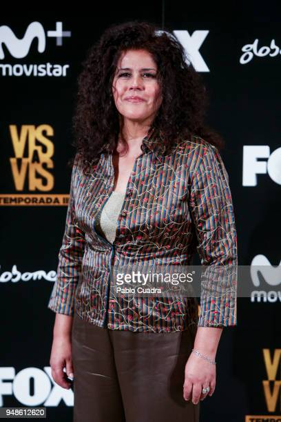 Actress Laura Baena Torres attends the 'Vis A Vis' photocall at VP Plaza de Espana Hotel on April 19 2018 in Madrid Spain