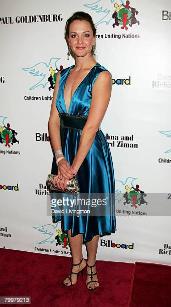 Actress Laura Baggett arrives at Children Uniting Nations' 9th annual awards celebration and viewing dinner held at the Beverly Hilton hotel on...