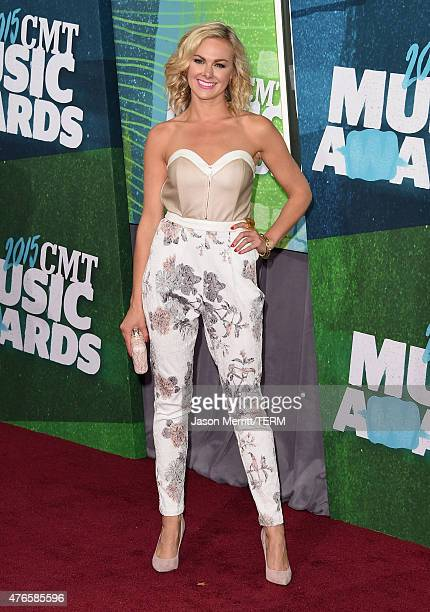 Actress Laura Bell Bundy attends the 2015 CMT Music awards at the Bridgestone Arena on June 10 2015 in Nashville Tennessee
