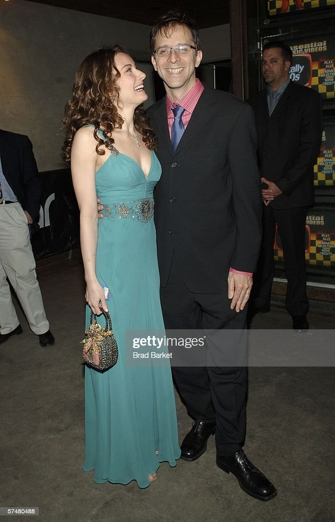 Actress Laura Benanti And Director John Rando Arrives At The Wedding Singer After Party