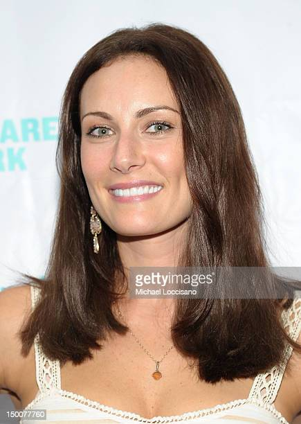 """Actress Laura Benanti attends """"Into The Woods"""" opening night celebration at the Delacorte Theater on August 9, 2012 in New York City."""