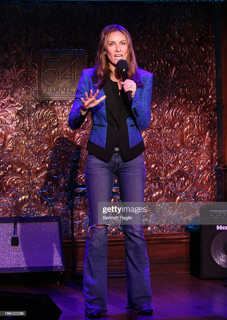 Actress Laura Benanti performs during the Press Preview at 54 Below on April 12, 2013 in New York City.