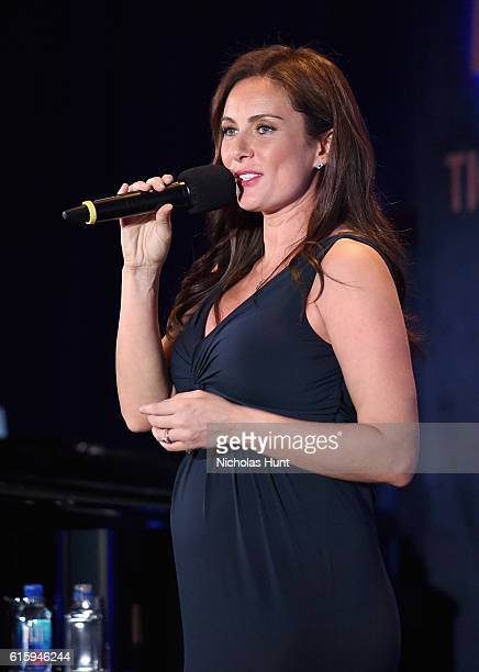 Actress Laura Benanti performs onstage during the Tiger Woods Foundation's 20th Anniversary Celebration at the New York Public Library on October 20...