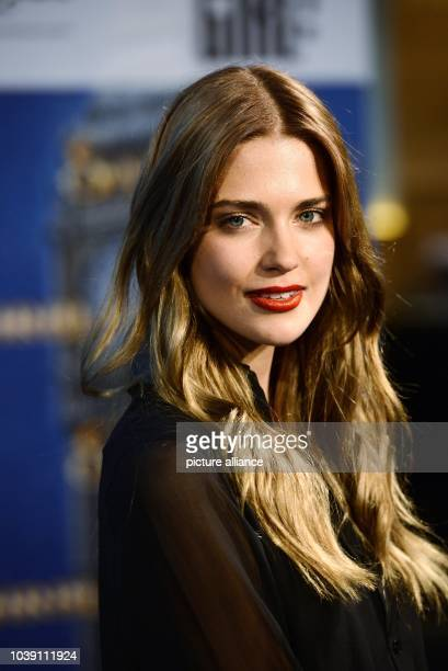"""Actress Laura Berlin poses before the premiere of the film """"Sapphire Blue"""" in Cologne, Germany, 11 August 2014. The film will come to German cinemas..."""