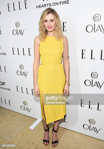 Actress Laura Carmichael attends ELLE's Annual Women in Television Celebration on January 13 2015 at Sunset Tower in West Hollywood California...