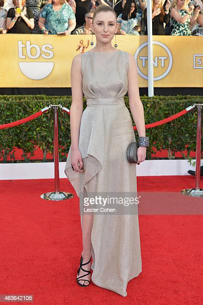 Actress Laura Carmichael attends the 20th Annual Screen Actors Guild Awards at The Shrine Auditorium on January 18 2014 in Los Angeles California
