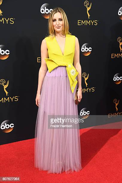 Actress Laura Carmichael attends the 68th Annual Primetime Emmy Awards at Microsoft Theater on September 18 2016 in Los Angeles California