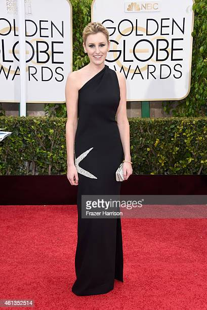 Actress Laura Carmichael attends the 72nd Annual Golden Globe Awards at The Beverly Hilton Hotel on January 11 2015 in Beverly Hills California