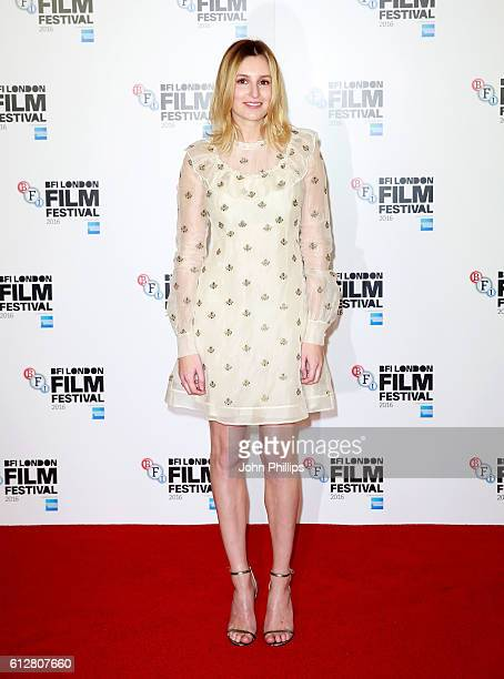 Actress Laura Carmichael attends the 'A United Kingdom' photocall during the 60th BFI London Film Festival at The Mayfair Hotel on October 5 2016 in...
