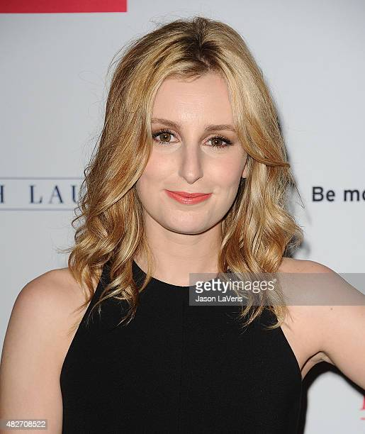 Actress Laura Carmichael attends the 'Downton Abbey' cast photo call at The Beverly Hilton Hotel on August 1 2015 in Beverly Hills California