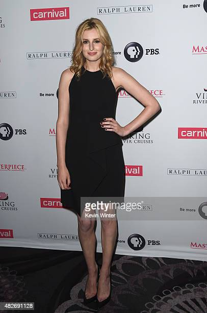 Actress Laura Carmichael attends the 'Downton Abbey' cast photo call during the 2015 Summer TCA Tour at The Beverly Hilton Hotel on August 1 2015 in...