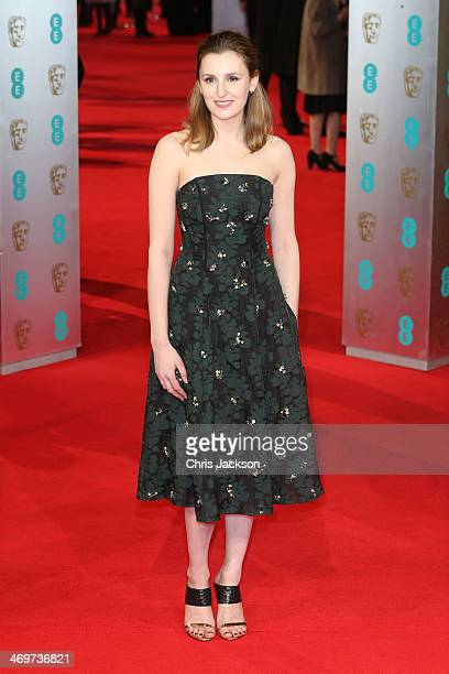 Actress Laura Carmichael attends the EE British Academy Film Awards 2014 at The Royal Opera House on February 16 2014 in London England