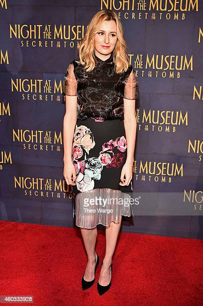 "Actress Laura Carmichael attends the ""Night At The Museum: Secret Of The Tomb"" New York Premiere at Ziegfeld Theater on December 11, 2014 in New York..."