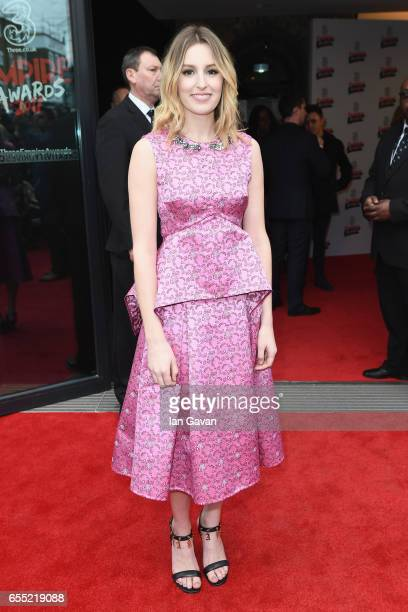 Actress Laura Carmichael attends the THREE Empire awards at The Roundhouse on March 19 2017 in London England