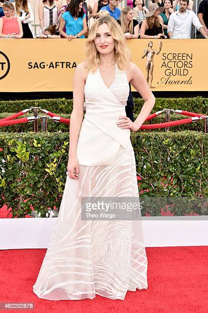 Actress Laura Carmichael attends TNT's 21st Annual Screen Actors Guild Awards at The Shrine Auditorium on January 25, 2015 in Los Angeles,...