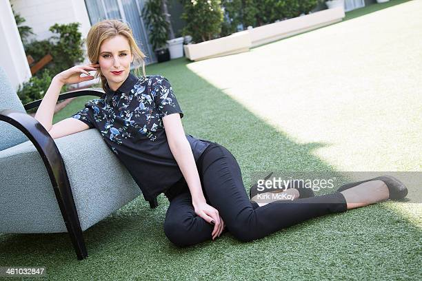 Actress Laura Carmichael is photographed for Los Angeles Times on August 6 2013 in Beverly Hills California PUBLISHED IMAGE CREDIT MUST BE Kirk...