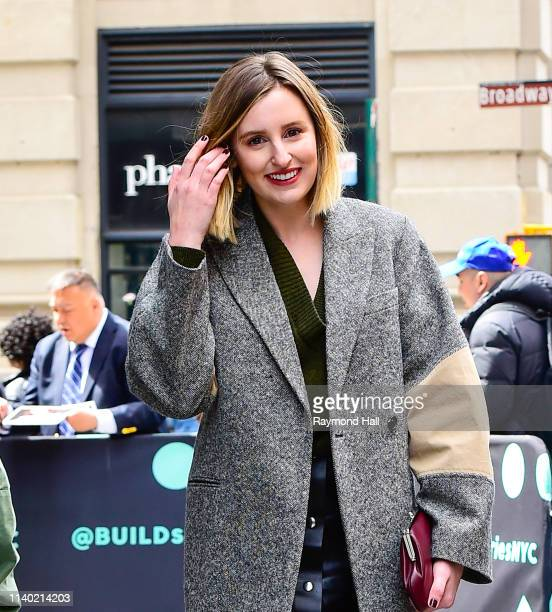 Actress Laura Carmichael is seen outside aol build on April 29, 2019 in New York City.