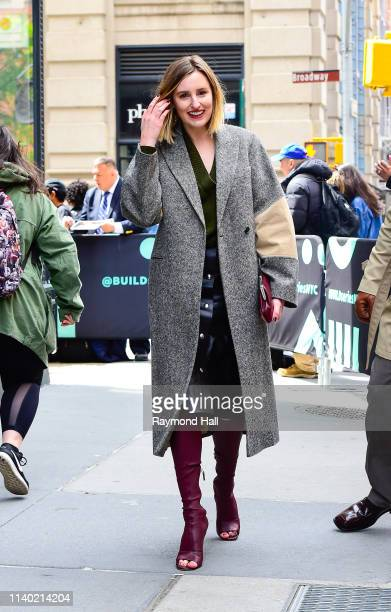 Actress Laura Carmichael is seen outside aol build on April 29 2019 in New York City