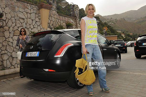 Actress Laura Chiatti arrives at the Taormina Film Fest 2010 on June 18 2010 in Taormina Italy