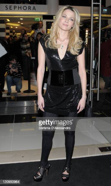 Actress Laura Chiatti attend the Sephora beauty store opening during Milan Fashion Week Womenswear Autumn/Winter 2010 on February 24, 2010 in Milan,...
