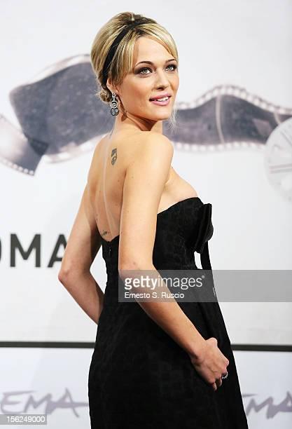 Actress Laura Chiatti attends the 'Il Volto Di Un'Altra' Photocall during the 7th Rome Film Festival at the Auditorium Parco Della Musica on November...