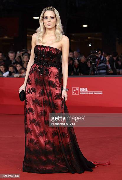 Actress Laura Chiatti attends the 'Il Volto Di Un'Altra' Premiere during the 7th Rome Film Festival at Auditorium Parco Della Musica on November 12...