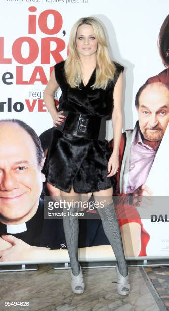 Actress Laura Chiatti attends the 'Io E Lara' photocall at Warner Moderno on December 30 2009 in Rome Italy