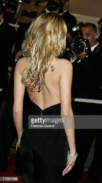 Actress Laura Chiatti attends the 'L'Amico Di Famiglia' premiere during the 59th International Cannes Film Festival May 25 2006 in Cannes France