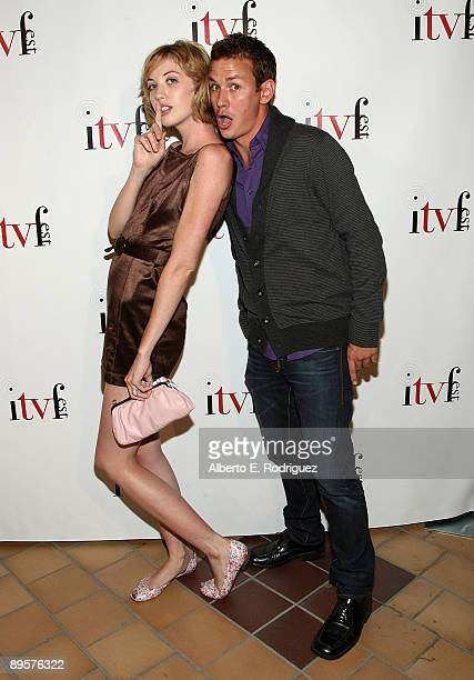 Actress Laura Clery and actor Casey Graf arrive at the premiere of Sex Ed The Series held at Laemmle Sunset 5 Theatre on August 2 2009 in West...
