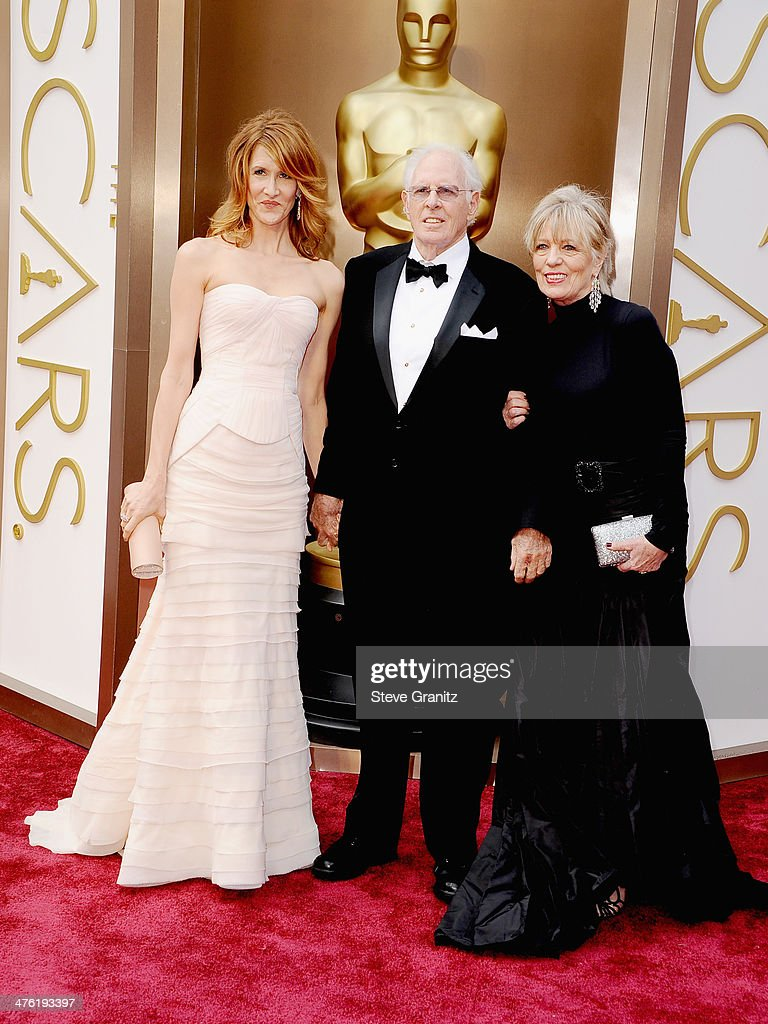 Actress Laura Dern, actor Bruce Dern and Andrea Beckett attend the Oscars held at Hollywood & Highland Center on March 2, 2014 in Hollywood, California.