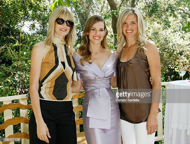 Actress Laura Dern actress Hilary Swank and actress Bridgette Wilson Sampras attends the Guerlain Celebrates the launch of the new fragrance My...