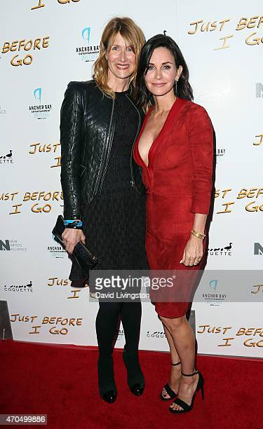 Actress Laura Dern and actress/director Courteney Cox attend a screening of Anchor Bay Entertainment's 'Just Before I Go' at ArcLight Hollywood on...