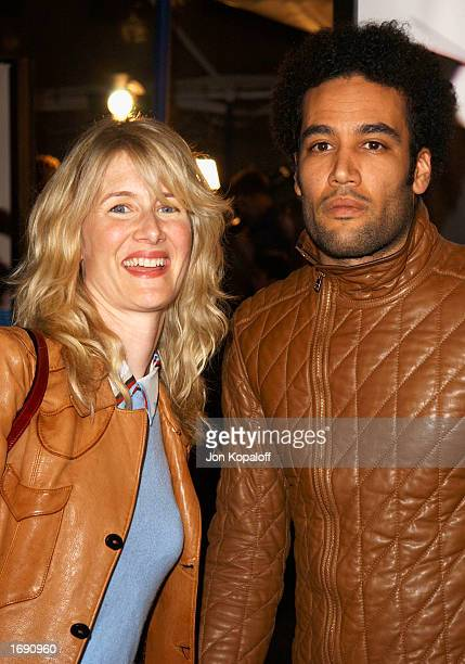 Actress Laura Dern and Ben Harper attend the premiere of Catch Me If You Can at the Mann Village Theatre on December 16 2002 in Westwood California