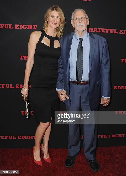Actress Laura Dern and dad Bruce Dern arrive at the Los Angeles Premiere The Hateful Eight at ArcLight Cinemas Cinerama Dome on December 7 2015 in...