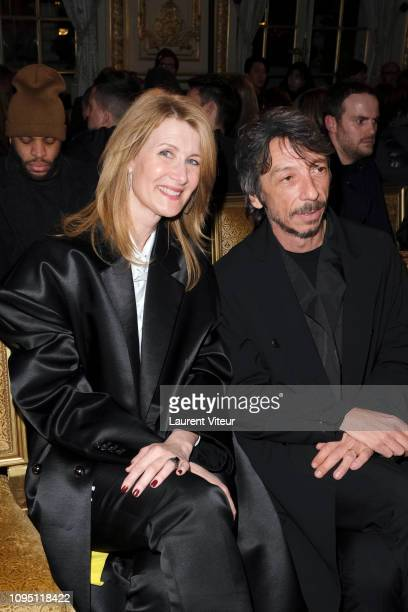 Actress Laura Dern and designer Pierpaolo Piccioli attend the Raf Simons Menswear Fall/Winter 20192020 show as part of Paris Fashion Week on January...