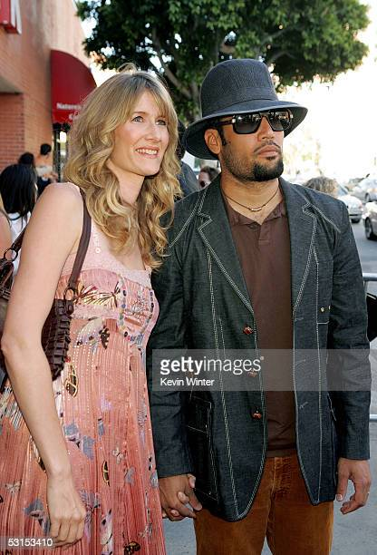 Actress Laura Dern and fiance musician Ben Harper arrive at the Los Angeles Film Festival Premiere of Happy Endings at the Mann's National Theatre on...