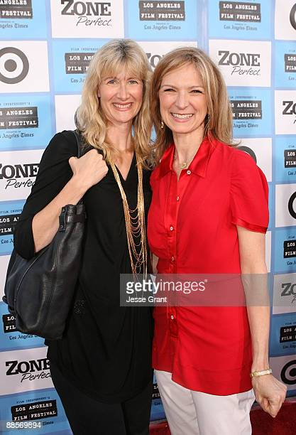 Actress Laura Dern and Film Independent Executive Director Dawn Hudson arrive at the 2009 Los Angeles Film Festival's Opening Night Premiere of...