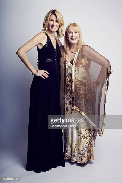 Actress Laura Dern and her mother actress Diane Ladd pose for a portrait during the 29th American Cinematheque Award honoring Reese Witherspoon at...