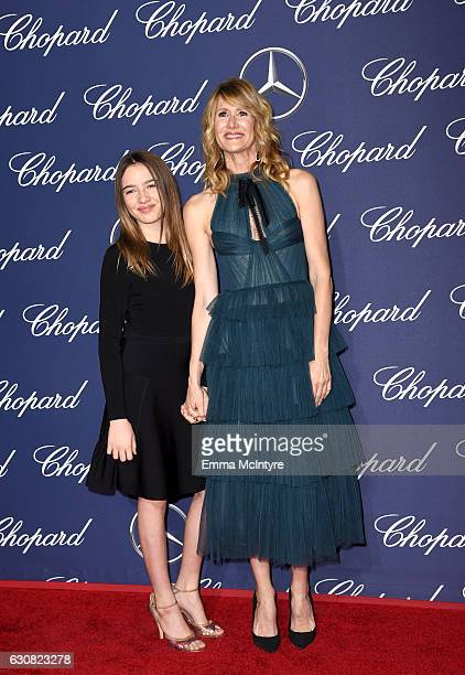 Actress Laura Dern and Jaya Harper attend the 28th Annual Palm Springs International Film Festival Film Awards Gala at the Palm Springs Convention...