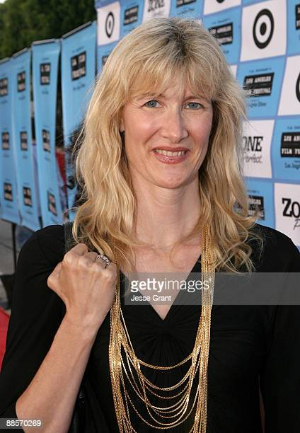 """Actress Laura Dern arrives at the 2009 Los Angeles Film Festival's Opening Night Premiere of """"Paper Man"""" held at the Mann Village Theatre on June 18,..."""