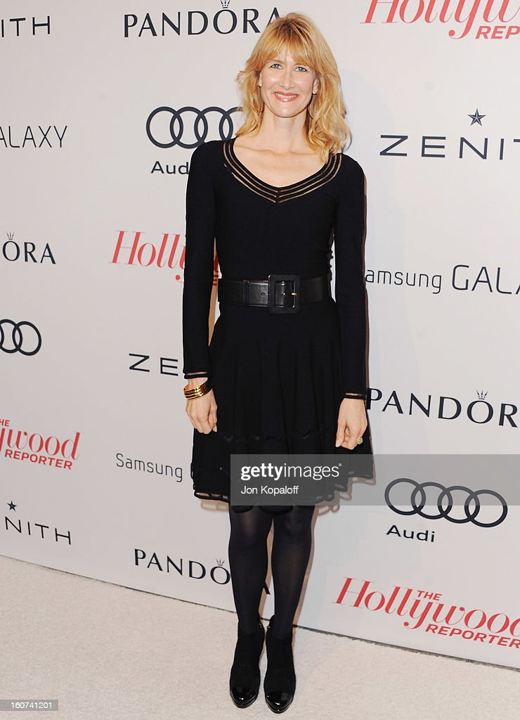 Actress Laura Dern arrives at The Hollywood Reporter Nominees' Night 2013 Celebrating 85th Annual Academy Award Nominees at Spago on February 4, 2013 in Beverly Hills, California.